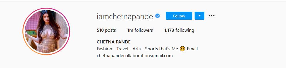 Chetna Pande Instagram Account