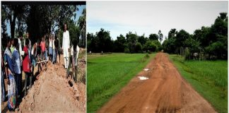 कुशीनगर में ग्रामीणों ने स्वंय बनायी सड़क