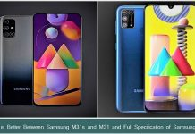 Samsung M31s vs M31