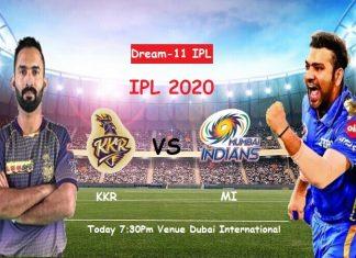 IPL 2020 MI Vs KKR
