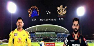 IPL 2020 CSK VS RCB