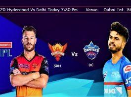 Delhi Vs Hyderabad IPL